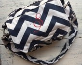 New! Navy MEDIUM size Digital Padded Camera Bag with monogram by Watermelon Wishes