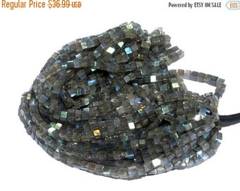 55% OFF SALE Full 16 inches - Finest Quality Genuine AAA Blue Flashy Labradorite Smooth/Polished Cubes Briolettes Size 4.5 - 5mm approx