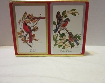 Vintage Congress Playing Cards With Cardinals/Bluebirds
