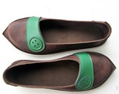 Comfort shoes, HOMILY elven, Handmade Leather BUTTON Shoes, pick a colour