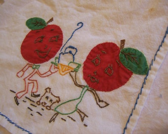 happy tomatoes kitchen towel