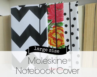oilcloth moleskine notebook cover // for large cahier journal soft cover 5 x 8.25 size