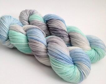 Hand Dyed Yarn - Elsa - Superwash Merino Worsted - Ready to Ship - Vivid Yarn Studio