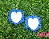 Vanity mirror heart earrings