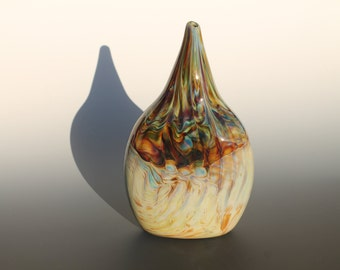 Glass Vase - Hand Blown - Multicolored - One Of A Kind!!! - Stock # ECV-32