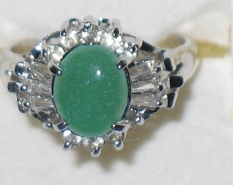 Faux Jade Dinner Ring