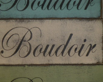 50% off STORE CLOSING SALE / Boudoir sign / French bedroom sign / French wall sign / French decor / hand painted sign / wood Boudoir sign /