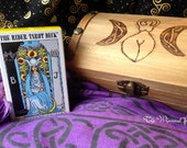 Treasure Chest Altar Box with Mini Tarot Card Set