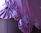 RESERVE Teal waist cincher with Purple rosettes