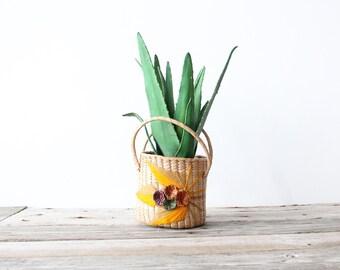 Vintage Woven Basket / Planter