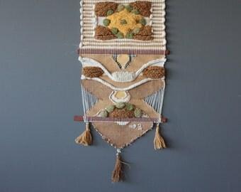 Large Original Don Freedman Fiber Textile Art Wall Hanging