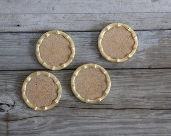 Gold Bamboo Coasters (Set of 4)