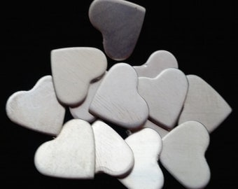 """Sterling Silver 1/2"""" Hearts - Qty 2"""