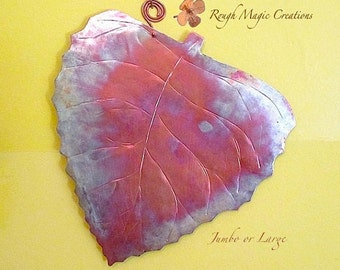 Autumn Leaf Metal Wall Hanging Hammered Copper Rustic Metal Wall Decor Birch Leaf Earthy Fall Colors Primitive Home Decor Thanksgiving Gift