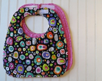 Rock Candy  - Reversible Eco-Friendly Sewn Baby Bib