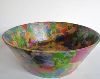 Vintage Paper Mache Bowl