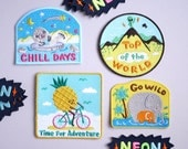 Bel's Art World - 3 x Mix and Match Iron on Patches