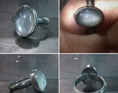 Grey Moonstone Eye Intaglio Ring Made to Order Any Size