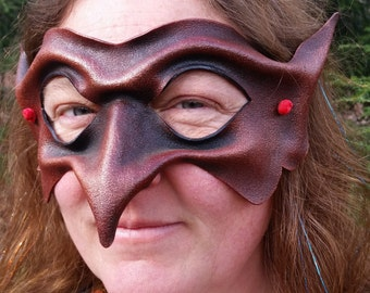 Red Goblin Leather Mask