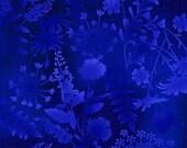 Flower Silhouettes Blue Mariposa Meadow Studio E Fabric 1 yard