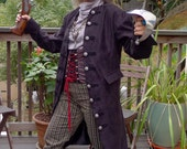 Swashbuckling Black Tapestry Cloth Pirate Jacket