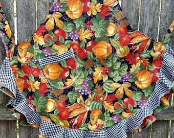 Autumn Harvest Full Length Flouncy Ruffled Apron