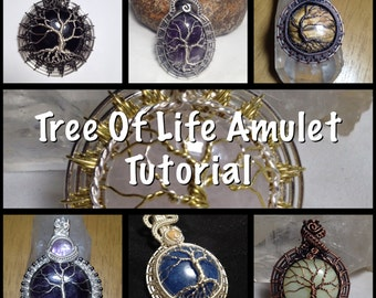 PDF TUTORIAL, Tree Of Life Amulet, step by step instructions, digital download
