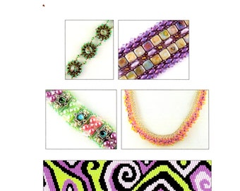 Our Favorite Stitches 5 - 5 Beadweaving Tutorials - Instant Download