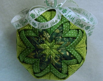 Quilted Christmas Ornament Greens