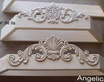 Unpainted DIY bed canopy crown choice of 2 different styles, bed canopy , bed crown, wood canopy