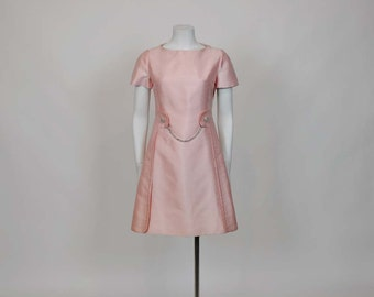 60s dress / Pink Perfection Vintage 1960's Mod Cocktail A Line Dress
