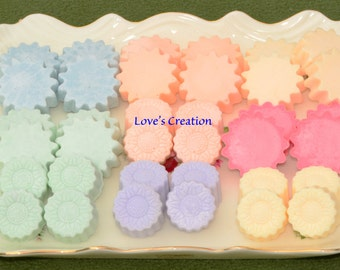 Soy Lotion Tart-set of 24 scented tarts/use on skin!!