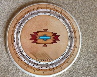 Cribbage game board