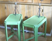 Custom Layaway for Basil Barn Payment #3 • Vintage Mid Century End Tables • Pair of End Table with Built in Lamps