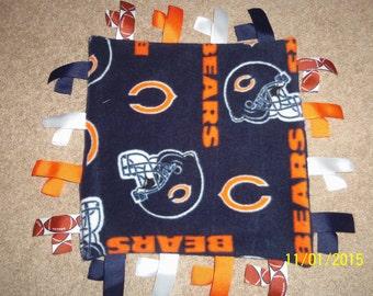 Homemade Chicago Bears Ribbon Blanket