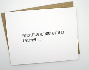 Funny Birthday Card- Threesome