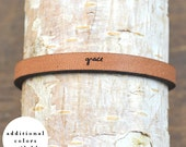 grace - adjustable leather bracelet  (additional colors available)
