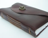LG Elegant Leather Journal with twist latch and cotton paper