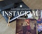 Instagram Photo Album for Valentines Day/ Skeleton Key / Jet Black