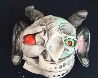Ceramic mask, wall hanging
