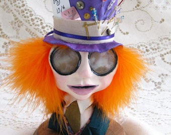 The Mad Hatter - Art Doll Bust