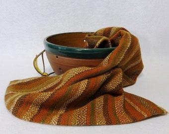 Handwoven Cotton/Linen Towel for Kitchen & Bath - Rust Towel - Autumn Towel, Forest, Handtowel, Kitchen Towel, Handwoven Towel, Tea Towel
