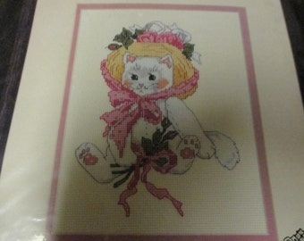 Counted Cross Stitch Kit Calico Kittens Cats I'm Pretty Janlynn Designs 139-40 Sealed Kit Cat