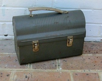 Vintage Metal Lunchbox Miner's Lunchbox Lunch Box