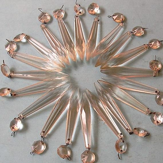 Crystal Chandelier Accessories: Vintage Chandelier Parts Glass Crystal Chandelier Parts
