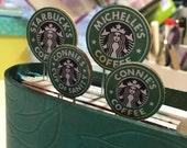 Personalized Starbucks Logo Bookmark Clip/Tab