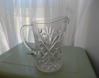Vintage Cut Glass  Small Pitcher or Creamer