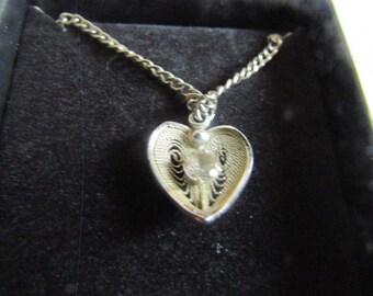 filgree heart pendent