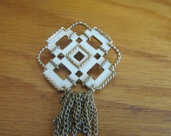 abstract square brooch