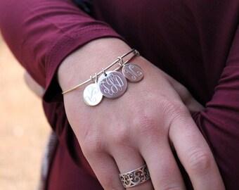 Additional Charm fo Bangle Bracelet, personalized necklace, personalized jewelry, monogram bracelet